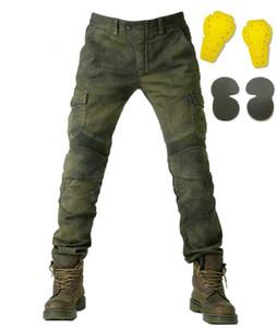 Calças de motocicleta dos homens calças de brim de passeio de motocicleta off-road calças de corrida de automóveis com equipamento de proteção Calças de corrida com alta qualidade