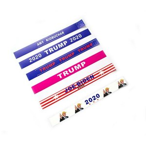 2020 Donald Trump Wristbands Tear Proof Paper Tyvek Bracelet Sports Waterproof Wrist Band Trump Supporters Bangle Novelty Items GGA2143