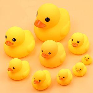 9 шт./компл. Оптовая продажа воды поплавок резиновая утка животных вызов пляж плавать ванная комната ванна детская игрушка