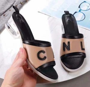 Hochwertige Designer Sandalen Damen Hausschuhe Strand Schuhe Mode Kristall Ferse Designer Schuhe Sandalen Hausschuhe Größe: 35-40 Mit Box Y2
