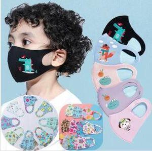 Design de mode Masque Cartoon visage 3D pour les PM2,5 couverture enfants Bouche anti-poussière Masque bouche respirateurs anti-poussière lavable réutilisable Masques visage MK20