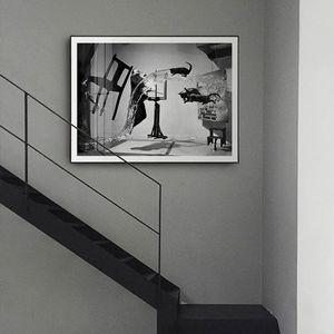 Dali Atomicus Abstrakte Wandkunst Poster und Drucke Leinwand Malerei Wandbild Salvador Dali für Wohnzimmer Kunstwerk Dekor