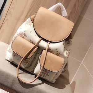 2020 mujeres de lujo de la moda de cuero de viaje Marca mochilas de alta calidad de la flor de compras del bolso de múltiples Pochette