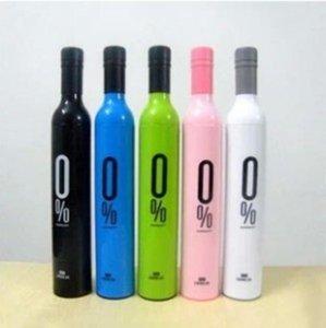 Populaire Rouge bouteille de vin Parapluie Creative trois volets Parapluies ensoleillé 0 degrés Manuel Bumbershoot facile à utiliser les 9mj dd