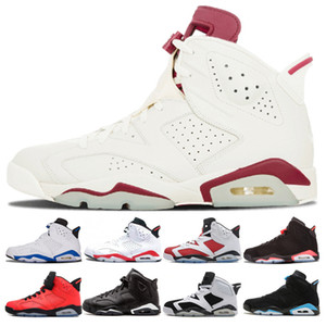 6 6s chaussures de basketball hommes Maroon Olympic nouvelle angry bull black cat sport blue Infrared Oreo unc Carmine Alternate Hare Sneaker Chaussures de Sport