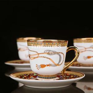 Kaliteli Kemik çini kahve fincanı çay bardağı Klasik atı desen Kahve Seramik çay seti eve taşınma hediye set