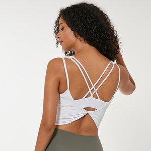 Zhangyunuo Yoga Camicie Backless Palestra Crop Top Wear maglia sexy Senza Reggiseno imbottito Push Up Canotta Donne ALLENAMENTO Active Sports