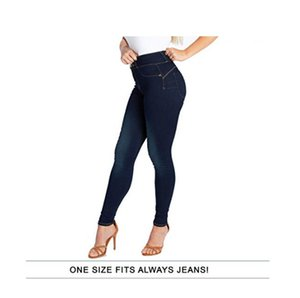 womensstretch High waist slim fashion jeans women