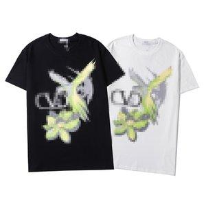 Mens Designer T-Shirts Summer Fashion das mulheres dos homens de luxo Top Tees Marca T-shirt mangas curtas Floral pássaro e impressão camisetas B6 2052304V