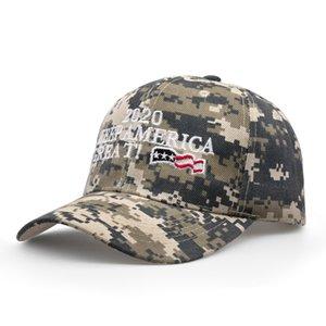 Donald Trump 2020 Beyzbol Şapkası nakışlı Amerika Büyük Tekrar Yapmak şapka kamuflaj Camo ABD Bayrağı açık mektup spor kap LJJA2910