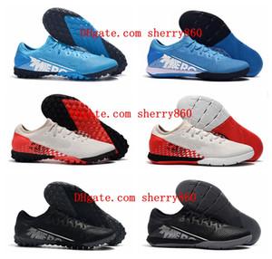2019 en kaliteli yeni varış futbol ayakkabıları Mercurial Buharı 13 Pro IC TF kapalı futbol krampon erkek CR7 Neymar krampon botas de futbol