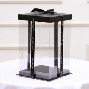 30.5x30.5x40CM 2019 Transparent Empty Gift Box for Artificial Teddy Bear Rose Flower Gifts Box Women Plush Bear Gift
