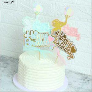 زفاف XHRLYLB لطيف الطفل الفيل بالون Lovebirthday كعكة بطاقة الطفل حفلة عيد الميلاد الديكور هدايا خاصة لذوي الطفل Shower.7