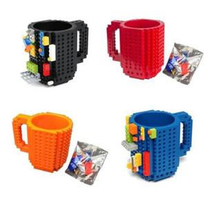 4 creativo di colori Latte Mug Coffee Cup Costruire-on Brick Boccale coppe per bere acqua Holder per LEGO Building Blocks design DropShipping
