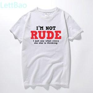 Rude Pensamento sarcástico T-shirt legal Adulto novidade presente Idea Humor engraçado camisetas Verão Top T Shirt algodão de manga curta Camiseta