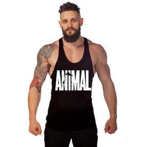 Muscleguys Pamuk Spor Salonları Tankı Üstleri Erkekler Kolsuz Tanktops Erkek Vücut Geliştirme Giyim Atlet Spor Stringer Için Yelek