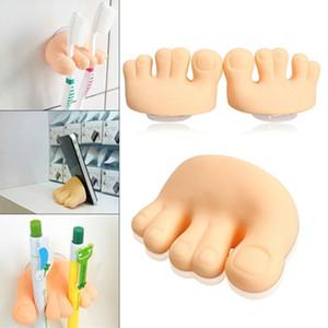 Sevimli küçük parmak Diş Fırçası Tutucu Kutusu Asma Emme Kupası Banyo Depolama Yıkama VT0357 Malzemeleri Diş Macunu Depolama Tutucu Banyo Raf