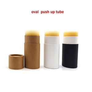 Yeni nokta itme tipi güneş bloğu sopa inek derisi kağıt tüpünü boşaltmak, deodorant, anti-ter macun kağıt tüp, deodorant sopa, oval kağıt kutu yapıştırma