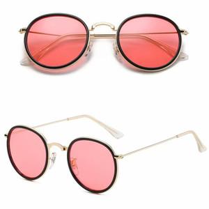2020 heiße verkaufende Frauen-Männer Sonnenbrille Metall-rund Feld Slasses Retro Sonnenbrille europäische und amerikanische Sun Brillen Modisch 11colors