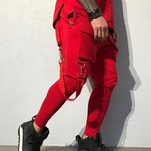 Pants Spring and Autumn Sweatpants Mens 2020 Luxury Designer Clothes Hip-hop Big Pocket Casual Sports Pants Men Fashion Tooling Track Pants