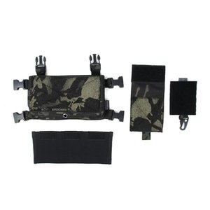 Tmc3119-mcbk SS tactical chest hanging set with multicam black imported fabric