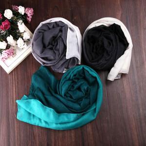 그라데이션 인쇄 스카프 스카프 숄 여성 랩 포장 많은 Hijab 케이프 여성 대형 겨울 스카프 스카프 스카프 여성