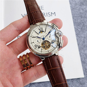 High Quality Top Brand men watches All sub-dials work luxury watch Moon Phase daydate mechanical automatic wristwatche for mens gift rejoles