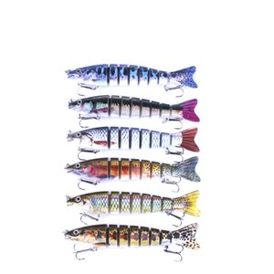 New Classic Designer Trout Swimbaits 12.7cm 18g Multi-jointed construction and true-to-life details S-shaped Swimming lure