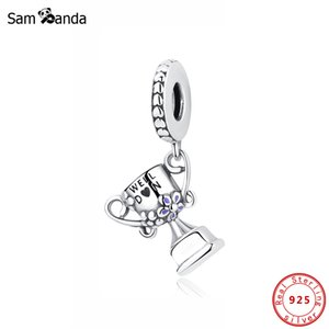 Original 100% 925 Sterling Silver Bead Charm Achievement Trophy Pendant Charms Fit Pandora Bracelets Women Jewelry Making