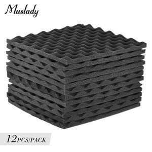 12pcs Soundproofing Foam Studio Acoustic Foams Panels Wedges 30x30cm Soundproof Absorption Treatment Panel for Offices Recording Studios