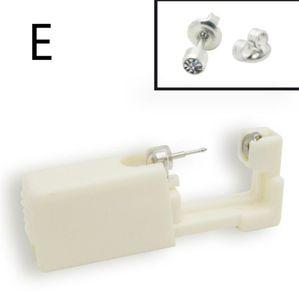 Hot Beauty Disposable Sterile Ear Piercing Unit Cartilage Tragus Helix Piercing Gun NO PAIN Piercer Tool Machine Kit Stud Choose Design