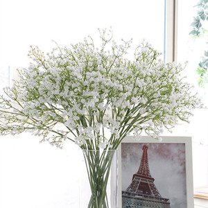 Farbenfrohes Artificial Gypsophila weiche Silikon-Real Touch Blumen Artificial Gypsophila für nach Hause Wedding Partei Festliche Dekoration HHAA429