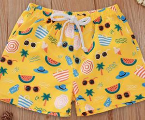 Kinder-Sommer-Badeshorts Baby-Badebekleidung Blumen beiläufiger elastischer Bund Strand Shorts Sommer 2020 heiße neue Drop Shipping