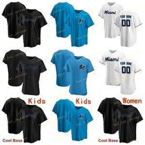 Custom Any Name Number 9 Brinson 2020 Baseball Jersey 14 Prado 62 Urena 15 Brian Anderson 19 Miguel Rojas 22 Sandy Alcantara Stitched