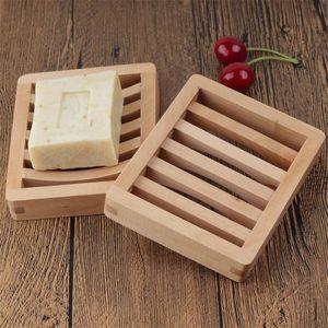 Ecológico Jabón plato de madera de madera sostenedor de la bandeja de jabón Jabón de almacenamiento en rack Placa envase de la caja de la ducha del baño Baño