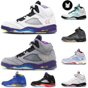 air jordan retro 5 5s Sıcak Satış 5 5s Jumpman Alternatif Retro Bel Air erkek basketbol ayakkabıları Beyaz Siyah 2020 Ateş Kırmızı moda Spor Sneakers boyutu 13 womens