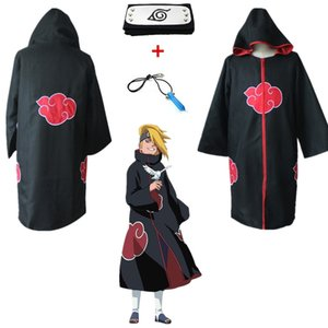 Asian Size Japan Anime Black Naruto Akatsuki Itachi Uchiha Deluxe Eagle Group Cosplay Hokage Unisex Costume Overcoat Cloak