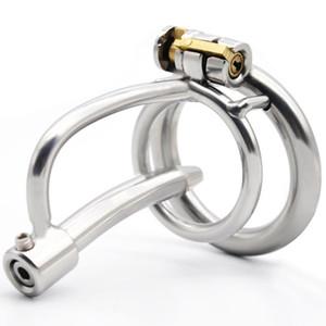 Нержавеющая сталь целомудрие устройство с катетером Малого Cock Cage металл пенис стопорного кольцо Bdsm игрушкой секса для мужчин