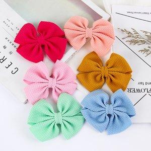 impressão Bow Floral Hairpin bonito Bebés Meninas cores doces Barrettes moda filhos Cabelo Boutique Clipe Crianças Cabelo Acessórios 38 cores C1711