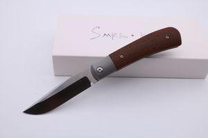 SMKE Messer Trapper Vorderseite Flipper Taschen-faltendes Messer D2 Blatt Micarta Inlay Titanium Griff Überleben Einsatzmesser im Freien Jagdmesser