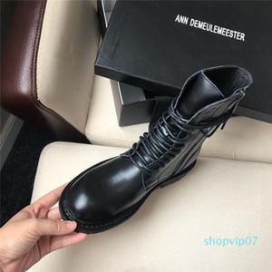 Sıcak satış-Chaussures de femmes Lady Lüks Çalışma Yüksek Üst Ayakkabı Kadınlar ANN Elbise çizmeler 101725 için Bottes Femme Fermuar Bayan Moda Çizme