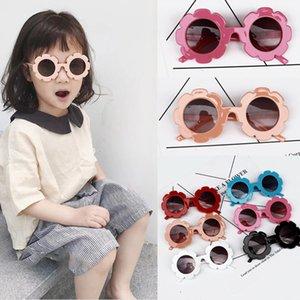 2019 جديد الصيف الفتيان والفتيات لطيف عباد الشمس نظارات 6 ألوان الإطار النظارات الشمسية حماية عاكس أطفال نظارات