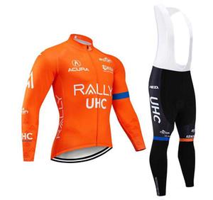 2020 New UHC-Team Radtrikot Langarm und einen.Kreislauf.durchmachenschellfisch Hosen Radfahren Kits Strap O19121602