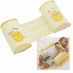 1PSC Baby Crib Infant Baby Toddler Safe 100% Cotton Anti Roll Pillow Sleep Flat Head Positioner