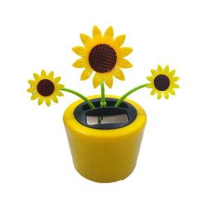 Автомобиль Solar Moving Head Танцы Swinging Animated Dancer игрушечные автомобили Подоконник украшение Солнечные гаджет подсолнух