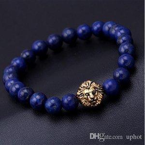 Hot Uphot Perle Charm Armband Buddha Armbänder Natursteinlöwe Armband Männer paracord pulseras hombre Bracciali uomo Mensarmbänder