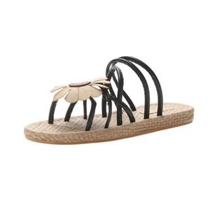 Yeni 2019 insta tarzı insta tarzı sandalet peri düz yaz öğrenciler için çok yönlü bir web ünlü terliğidir