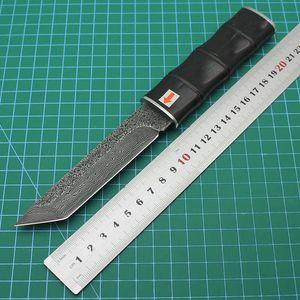 Сандаловой ручка Samurai Булат нож полевого нож выживания лагерь охота на открытом воздухе деятельности карманного нож EDC охотничьего инструмента снаружи мо