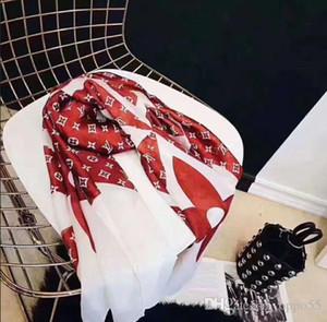 2020 primavera e no verão Popular carta elegante senhora com estampa de leopardo desgaste lenço tamanho confortável 180 * 90 centímetros lenço nenhuma caixa
