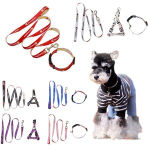 Teddy Dog Leash Set Small Medium Pet Pet Collares para perros Soft Traction Rope Strap Strap Anti-lost Dogs Chain Pet Supplies Accesorios HHA667